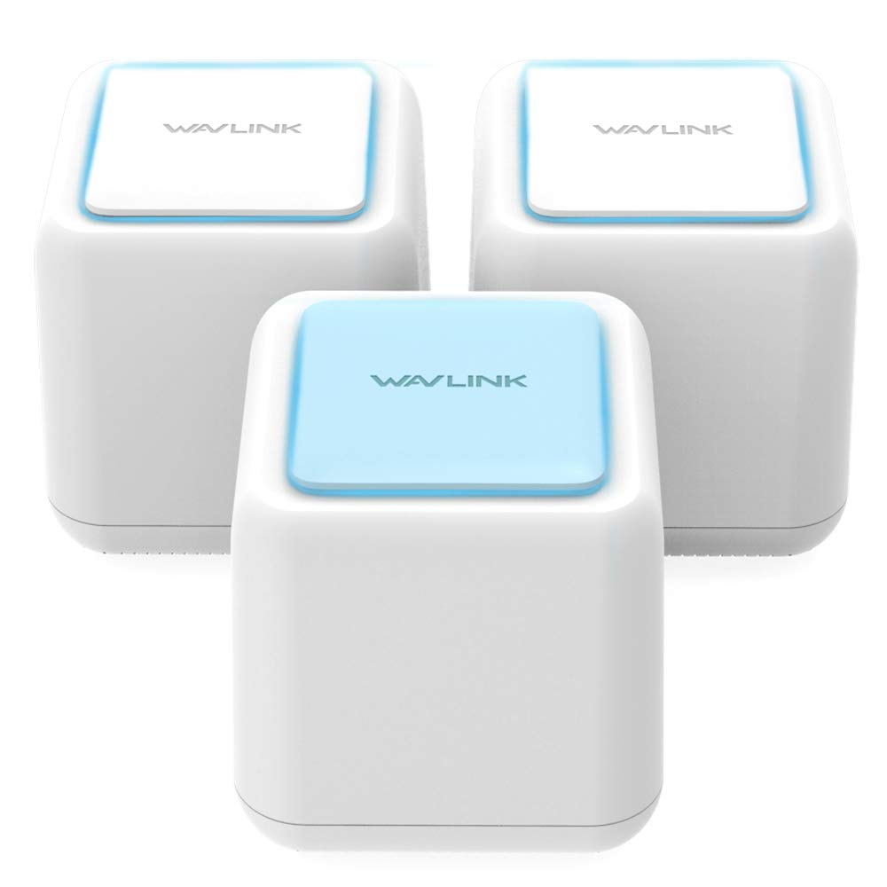 Wavlink Whole Home Mesh WiFi System/WiFi Router - Dual Band High Speed WiFi Coverage up to 6000sq.ft Works Any Devices(3 Pack) by WAVLINK