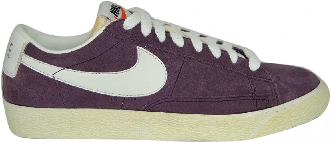 Factura asqueroso mermelada  Nike Mens Blazer Low Premium Vintage Suede Trainers in Port Wine (Purple)  and Sail 11uk: Amazon.co.uk: Shoes & Bags