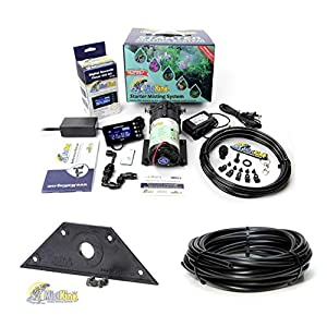 MistKing Starter Misting System Version 4.0 with Mounting Wedge and Extra 25' Tubing | Terrarium Humidifier | Terrarium Mister | Reptile Fogger | Complete Starter Misting System 12