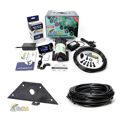 - MistKing Starter Misting System Version 4.0 with Mounting Wedge and Extra 25' Tubing   Terrarium Humidifier   Terrarium Mister   Reptile Fogger   Complete Starter Misting System