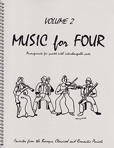 Music for Four, Volume 2 - Baroque, Classical & Romantic Favorites SET of 4 PARTS (for String Quartet - 2 Violins, Viola, Cello)
