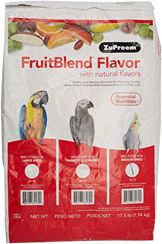 Zupreem 230328 Fruitblend Medium Tiel Caged Bird Food, 17.5-Pound