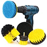 Power Scrubber Kit, Senignol 6 Pieces Drill Brush Attachment Set for Cleaning, Great