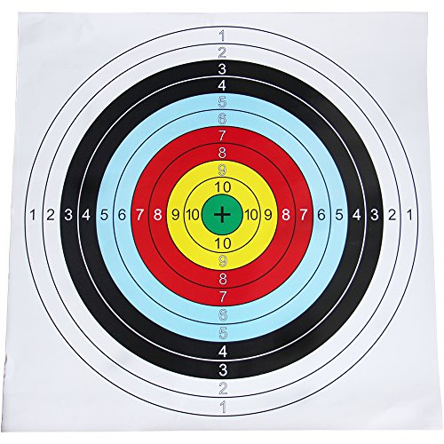 10pcs Target Paper 60*60cm Shooting Bullseye Archery Target Sheet Paper (Target Sheets For Archery compare prices)