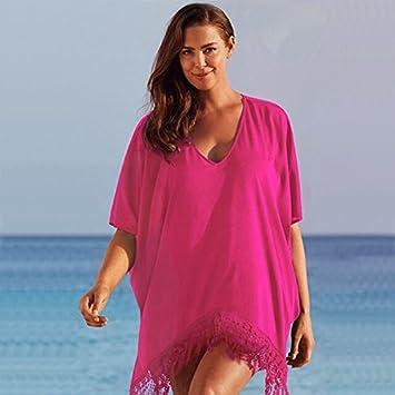 Goodid camisa de tallas grandes para bikini (rojo, XXXL)