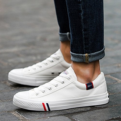 Color da Scarpe estate Size tela di uomo scarpe in coreano Bianca Espadrillas di stoffa scarpe basse 34 YaNanHome traspirante tendenza Scarpe stile Bianca di EtqpHFAw