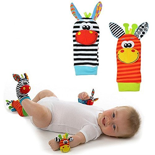 Toddler Deluxe Little Elephant Costumes (Animal Baby Infant Kids Foot Soft Infant Kids Rattles Sock Hand Toys Developmental by PPRICH)