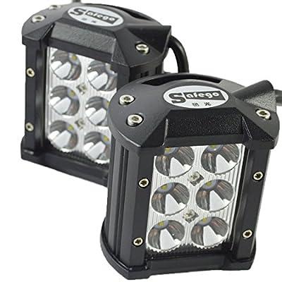 "Safego 4"" inch 18W LED Work Light Bar OffRoad Fog Driving Lamp 4X4 4WD Car for Trucks ATV Tractor Cree Chip 12V 24V"