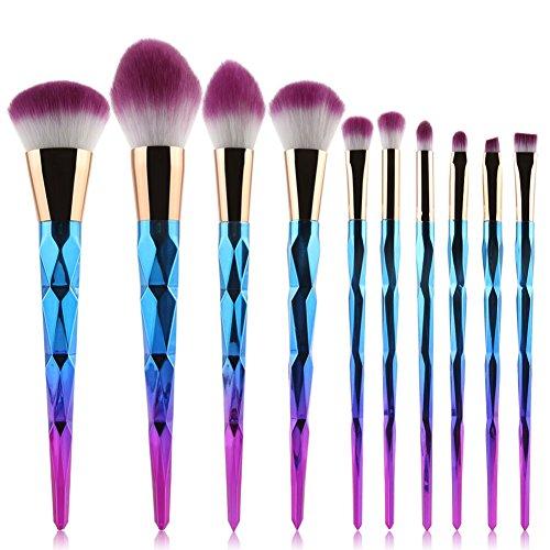 (Makeup Brush Set gLoaSublim,10Pcs Pro Makeup Brushes Helix Handle Eyebrow Foundation Powder Brush Set)