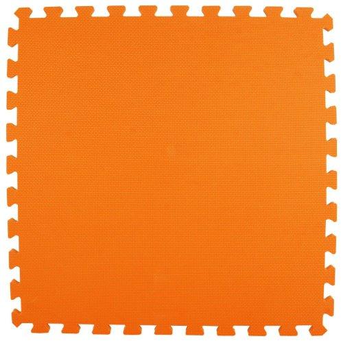 Greatmats Interlocking Foam Mat 2' x 2' x 5/8'' (Orange, 25 mats - 100SF - (each mat 24''x24''x5/8'')) by Greatmats.com