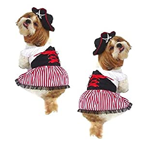 LADY PIRATE DOG COSTUMES - Dress Your Pup Nautical Halloween Sailor Dress u0026 Hat(Size 3)  sc 1 st  Amazon.com & Amazon.com: LADY PIRATE DOG COSTUMES - Dress Your Pup Nautical ...