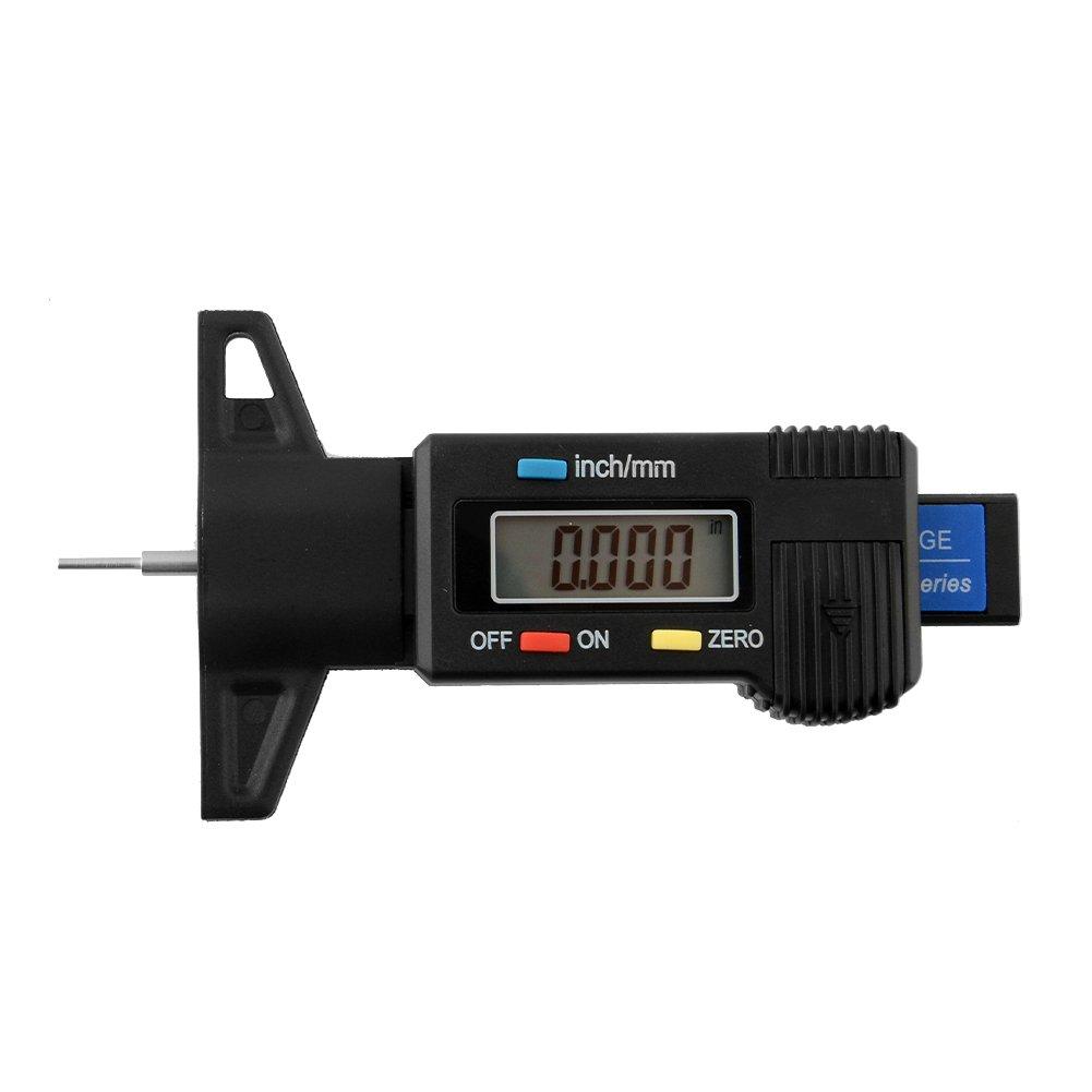 Sedeta® Autoreifen Manometer Autos Reifen LCD Digital Profiltiefe Tester Messgerät Meter Vermesser für Motorräder LKW SUV Bike