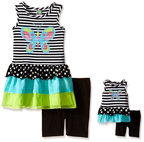 Dollie & Me Butterfly Applique Top and Short Set