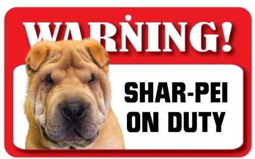 Shar-Pei Dog Pet Sign - Laminated Card Instant Gifts