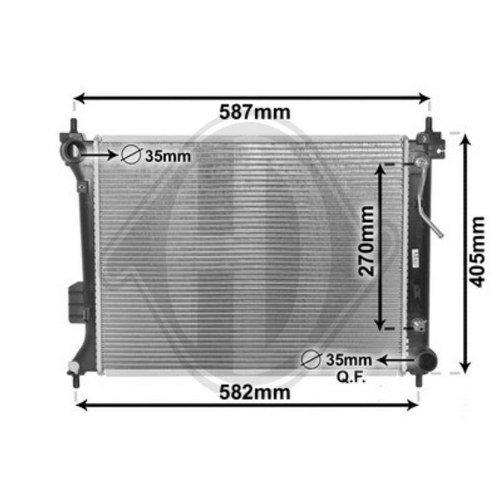 Diederichs DCM3744 Radiator, radiator: