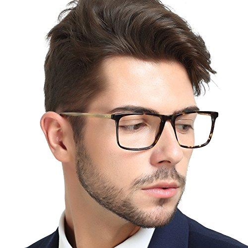 OCCI CHIARI Women Eyewear Frames Fashion Optical Acetate Eyeglasses With Clear Lenses For Mens (Asian black)