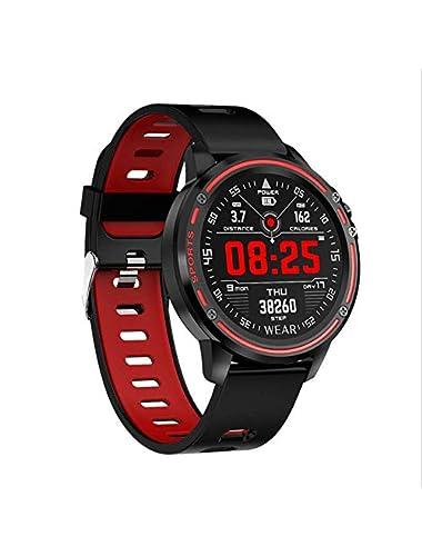 Smart Watch  Smart Watch Men Ip68 Waterproof Mode Smartwatch with ECG PPG Blood Pressure Heart Rate Sports Fitness Watches red