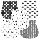 Baby Burp Cloths for Boys and Girls Premium 100% Soft Organic Cotton Absorbent Triple Burp Cloths Set