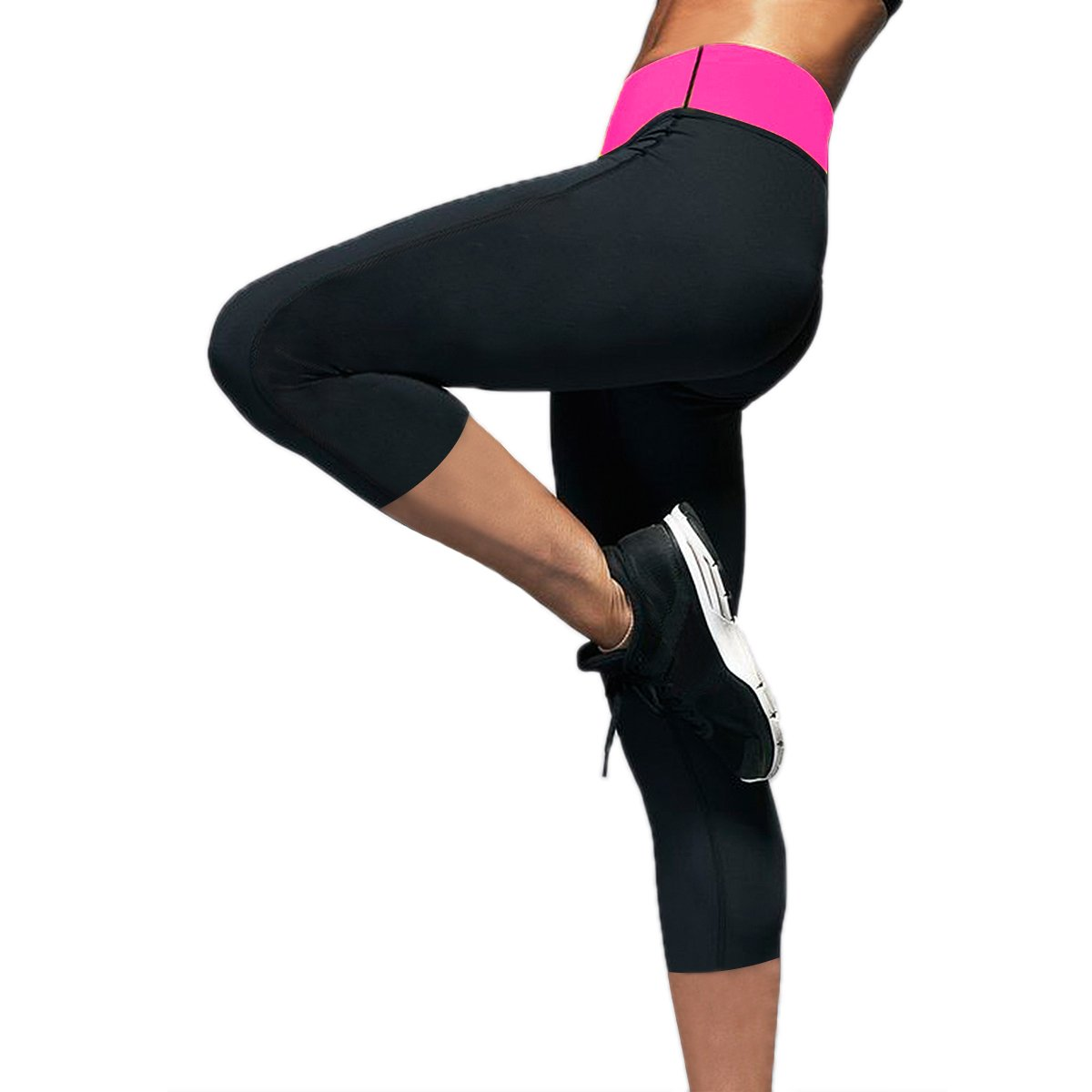 Womens Slimming Capris Pants Hot Thermo Neoprene Sweat Sauna Body Shapers Yoga Sport Leggings CFR