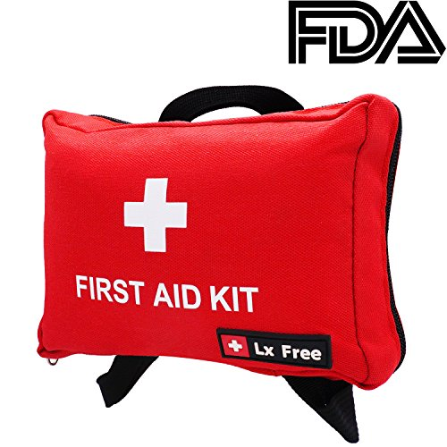 Lx Free Mini First Aid Kit - (100 Pieces) Compact Emergency Bag for Car, Motorcycle, Vehicle, Work, Home & Outdoor Suitable for Baby, Child, Toddler and Pets by Lx Free