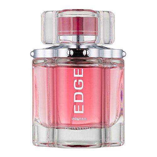 Edge Intense for Women, Floral Woody Eau De Parfum with Sultry Freesia, Greens, Rose, Jasmine, Sandalwood and White Musk by Perfume Artisan Swiss Arabian (Jasmine Green Apple Perfume)