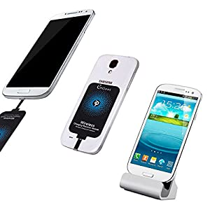 Qi Receiver Android, CHGeek Ultra Slim Micro USB Universal Wireless Charging Receiver Patch Module for Android Mobile Samsung Galaxy S4 Note 4,Sony Xperia Z3+,LG G3, Moto G4(Phone Narrow-Interface Up)