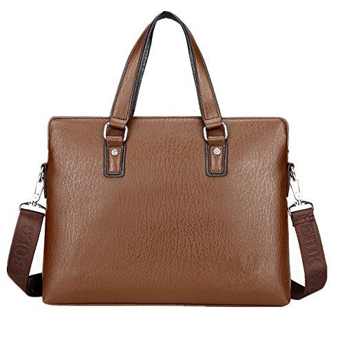 per 1 3 in Messenger Borse Business viaggio il 2 Way Men Wax casual Set Borsa Oil da Bag The Marrone tracolla business a qAxpqOw71