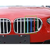 Rejilla frontal recortar Decoración Deporte Stripes Emblemas de riñón para bmw serie 1118i 120i 125i, F522017
