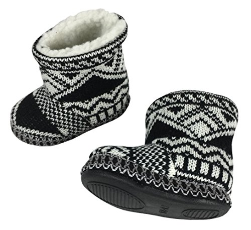Picture of N'Ice Caps Little Kids and Baby Sherpa Lined Indoor/Outdoor Walking Boots (13.25cm / 5.0