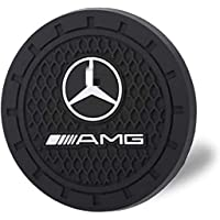 JDopption Car Logo Cup Holder Coaster Insert Cup Mat for Car Anti Slip Holder Mat Silicone (AMG)