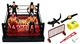 Velocity Toys 93853B World Hardcore Champions Wrestling Play Set with Ring, 4 Toy Figures, Accessories