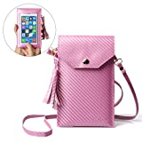 Cell Phone Purse, LKZAIY PU Leather Crossbody Bag Touch Screen Phone Wallet Bags Fits Phones 6.2 Inch and Below