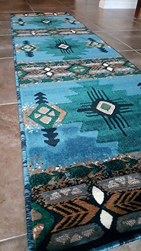Southwest Native American Runner Area Rug Blue...