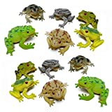 Fun Central (AZ916) 12pcs 3 Inch Toy Frogs Toy Figure Fun Toys, Toys For Kids, Frog Figure, Frog Toys For Kids - for Birthday, Christmas, Halloween, Party Favors, Rewards, Prizes- Assorted