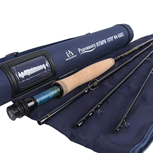 M MAXIMUMCATCH Maxcatch Nymph Fly Rod 4-Piece IM10 Carbon Nymph Rod Fly Fishing(4weight 10ft) 4wt 4 Piece Fly Rod