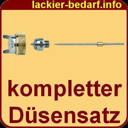 Dü sensatz 1, 7mm Edelstahl fü r HVLP Lackierpistole V2A GOLD Bermaro