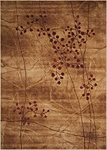 """Nourison Somerset (ST74) Latte Rectangle Area Rug, 9-Feet 6-Inches by 13-Feet  (9'6"""" x 13')"""
