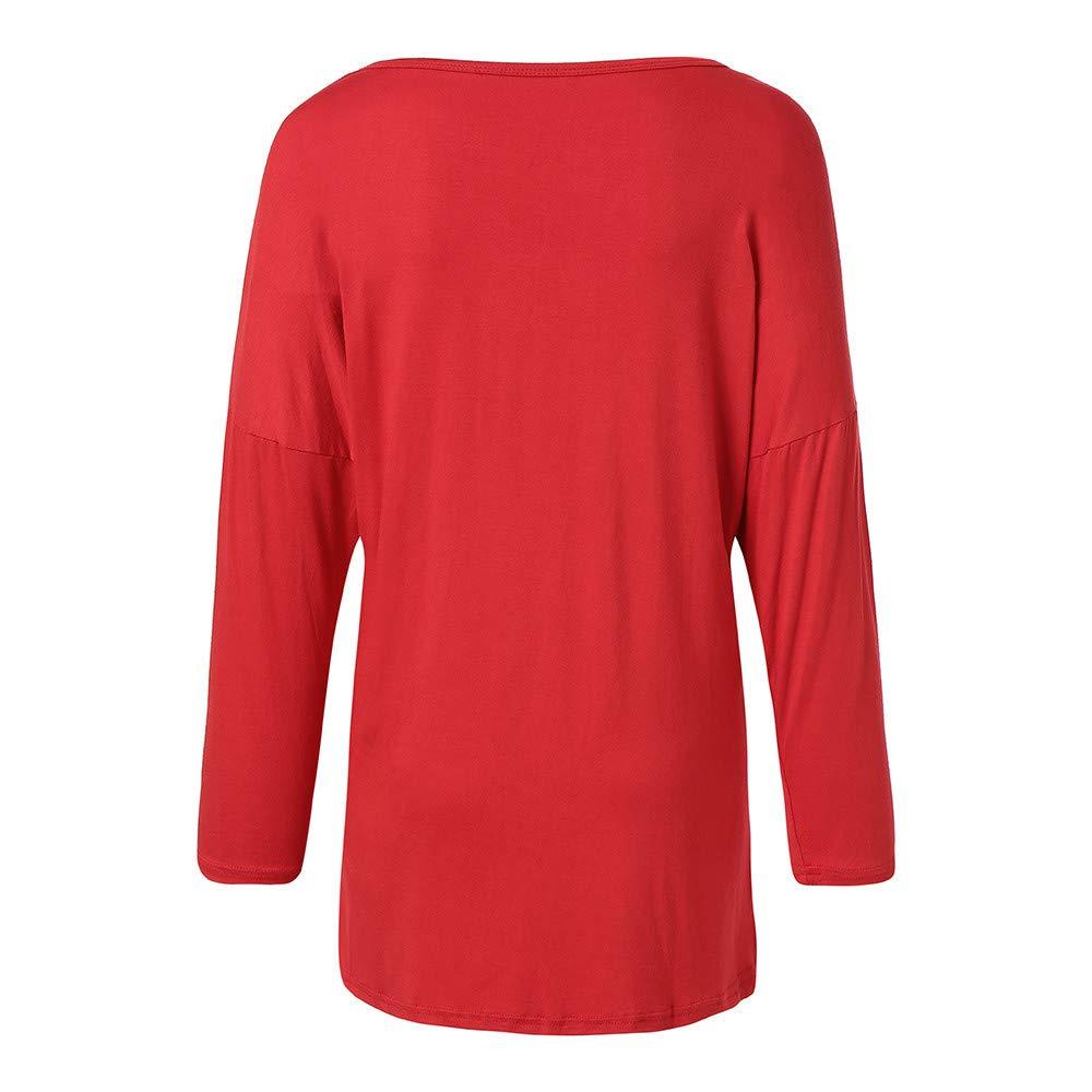 Limsea 2018 Ladies Christmas Reindeer Pattern Casual T-Shirt Long Sleeve Knitting Tops