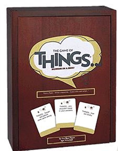 The Game of Things Humor in a Box Exclusive Edition with Cherry Wood Storage Box