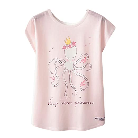 16e95dfef513 Tops for Women, Baggy Tank Top Floral Animal Print Cute T-Shirt ...