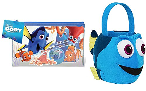Heroes And Villains Fancy Dress Costume Ideas (Finding Dory Plush Basket + Play Pack Disney Dory Filled Pencil Case Doodle Pad)