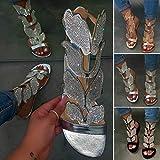 Sandals for Women Flat,2020 Fashion Rhinestone
