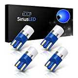 07 silverado interior - SiriusLED AG Super Bright 300 Lumen Ultra Compact LED Interior Light Bulb Size 168 175 194 2825 Pack of 4 Color Blue