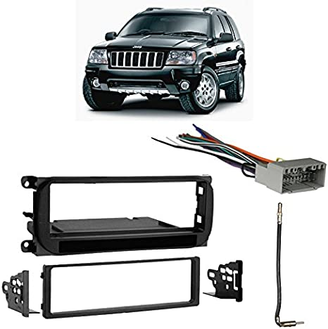 Compatible with Jeep Grand Cherokee 2002-2004 Single DIN Harness Radio on army jeep, black jeep, white jeep, pink jeep,