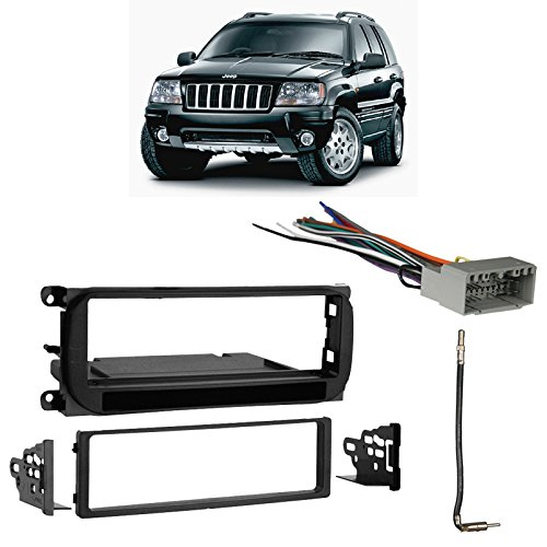 - Fits Jeep Grand Cherokee 2002-2004 Single DIN Harness Radio Install Dash Kit