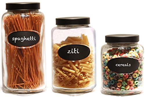 3 piece glass jar set - 6