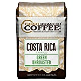 Green Unroasted Coffee Beans, 5 LB. Bag, Fresh Roasted Coffee LLC. (Costa Rica Tarrazu)