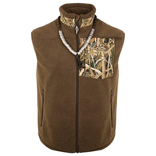 Drake MST Sherpa Fleece Hybrid Liner Vest, Color: Blades, Size: X-Large (DW8620-013-4)