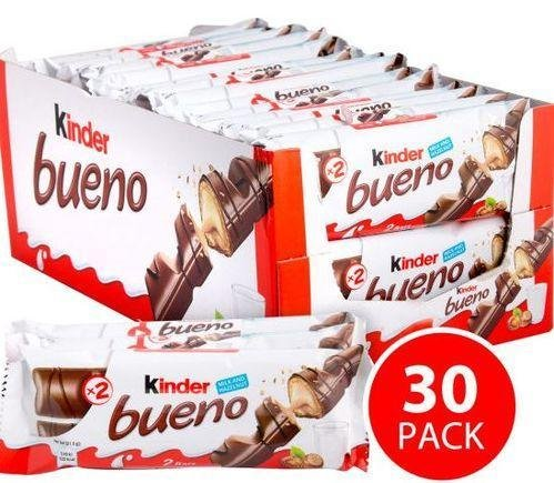 Chocolate Kinder Bueno Pack of 30 Milk Hazelnut Waffle bars by Kinder (Image #3)