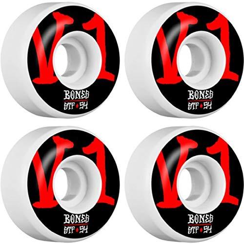 Bones Wheels STF V1 Annuals ホワイト スケートボードホイール - 54mm 103a (4個セット)   B07JH7SY17